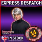 FANCY DRESS WIG ~ MENS POP STAR WIG GREY